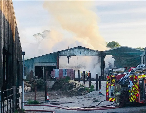 Fire wrecks barns at Thornbury farm