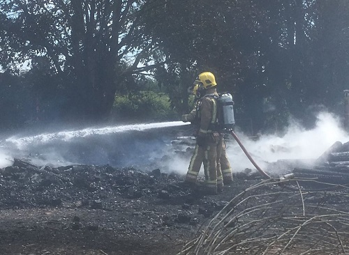 Firefighters called in to tackle out-of-control bonfire