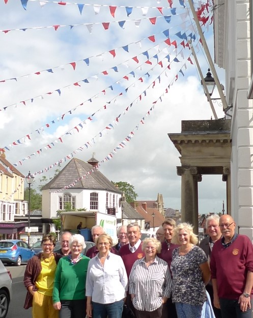 Bunting brightens up Thornbury