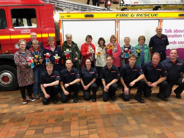 Teddies are on duty with Thornbury firefighters