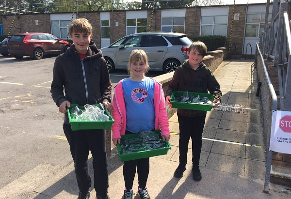 Children of key workers at Castle and Marlwood schools do their bit for NHS