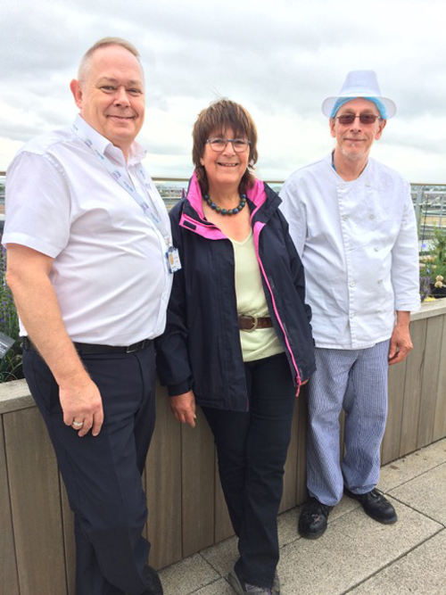 Herb expert Jekka creates hospital roof garden for relaxation and culinary ingredients