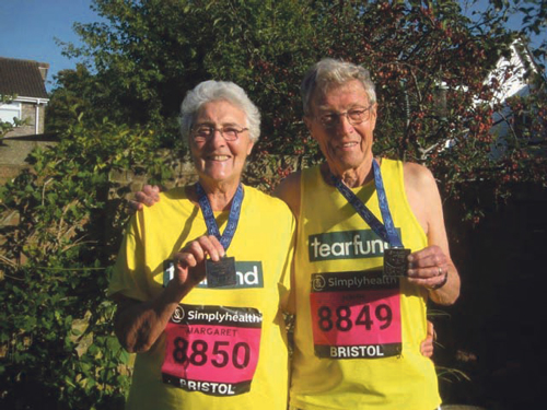 Meg and John run to charity fundraising success
