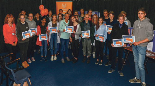 Pupils recognised for their outstanding contribution to town