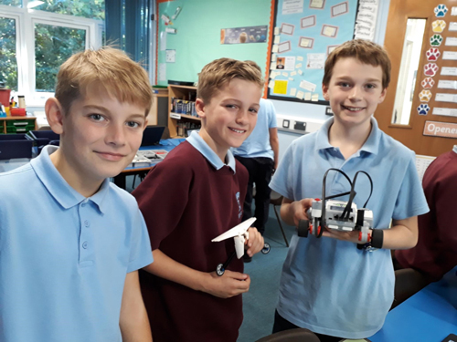 Engineers of the future test Lego robots