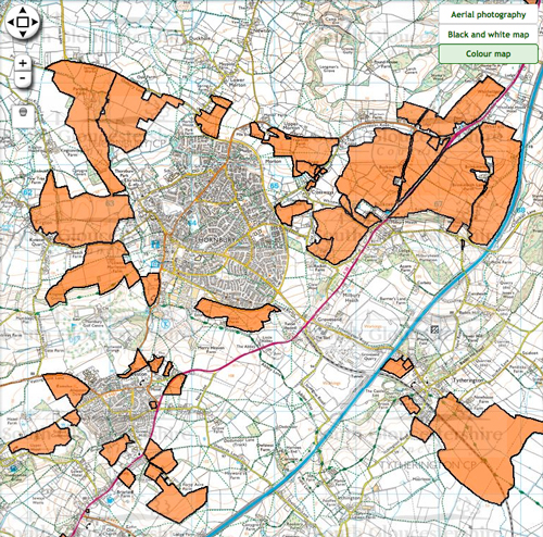 Huge areas on long list for further development